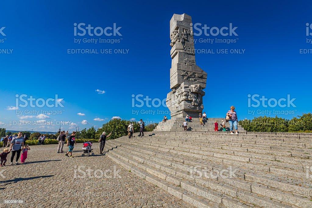 Gdansk, Poland - September 19, 2015: Westerplatte. Monument stock photo