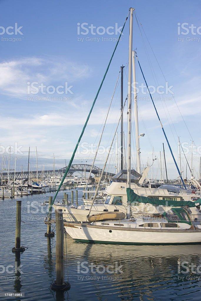 Westhaven Marina stock photo