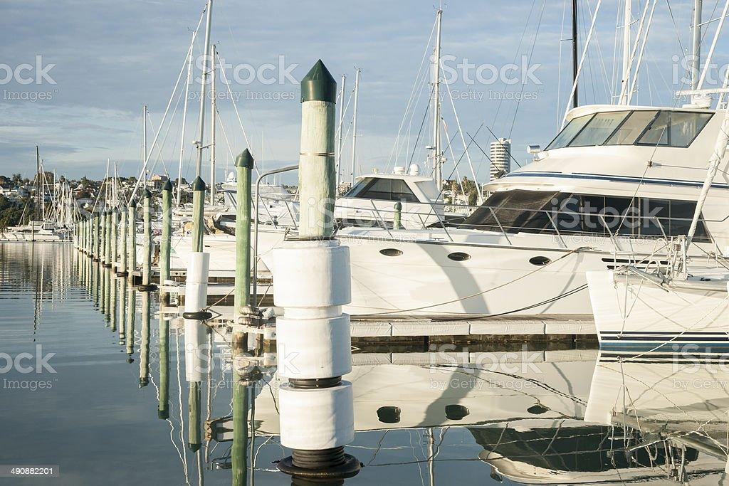Westhaven marina. stock photo