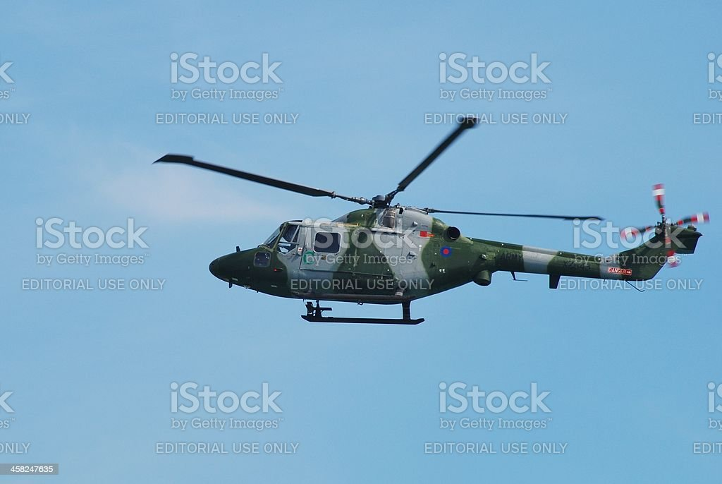 Westland Lynx AH.7 helicopter royalty-free stock photo