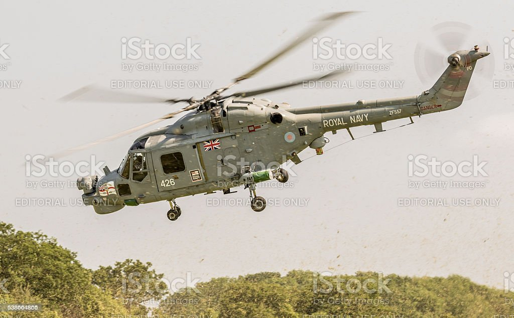 Westland Lynx military helicopter stock photo