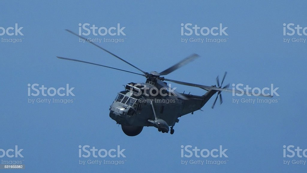 Westland Mk. 7 Sea King Helicopter 01 stock photo
