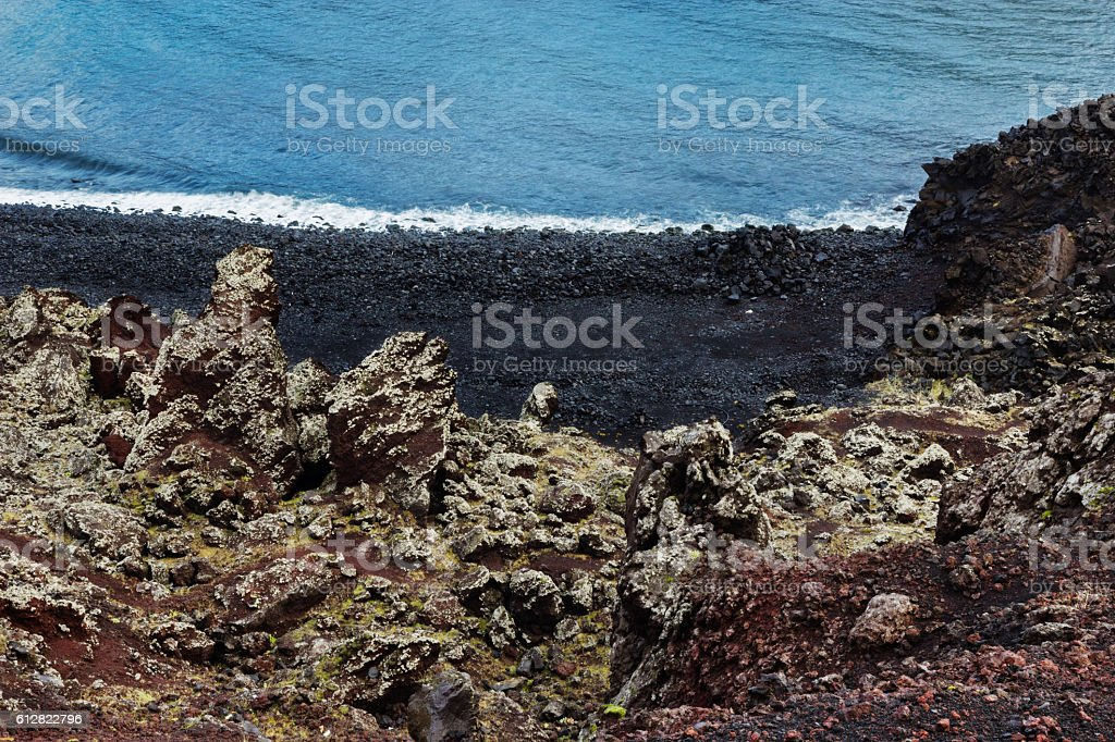 Westman Island Lava stock photo
