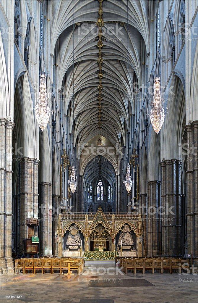 Westminster Abbey church London stock photo