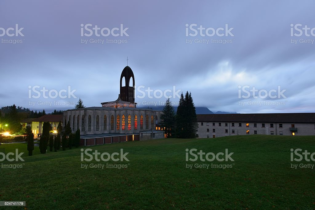 westminster abbey church, mission, bc stock photo