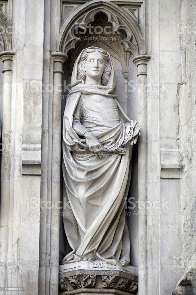 Westminster Abbey Detail London England royalty-free stock photo