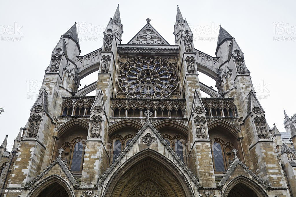 Westminster Abbey facade royalty-free stock photo