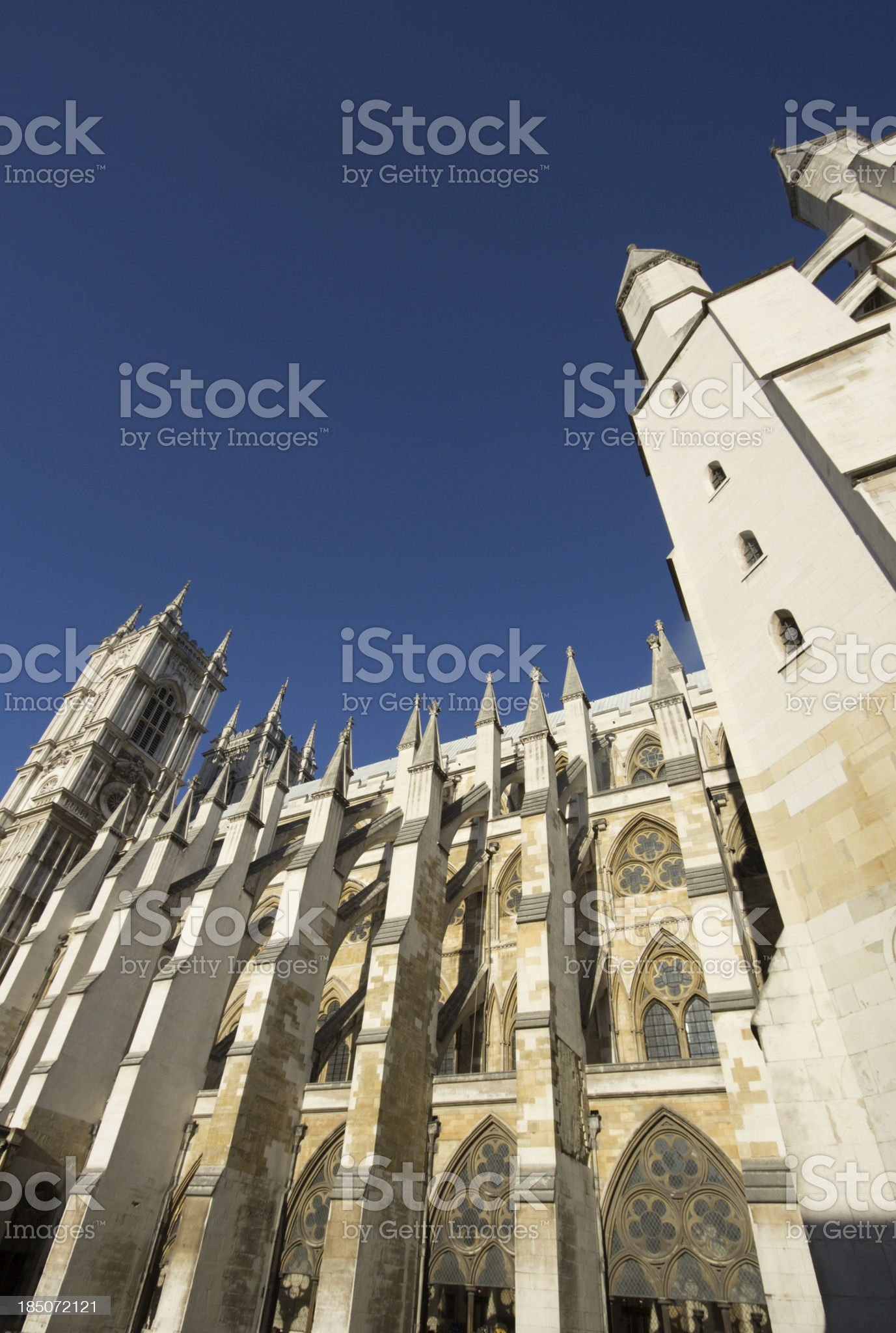 Westminster Abbey in London, England royalty-free stock photo