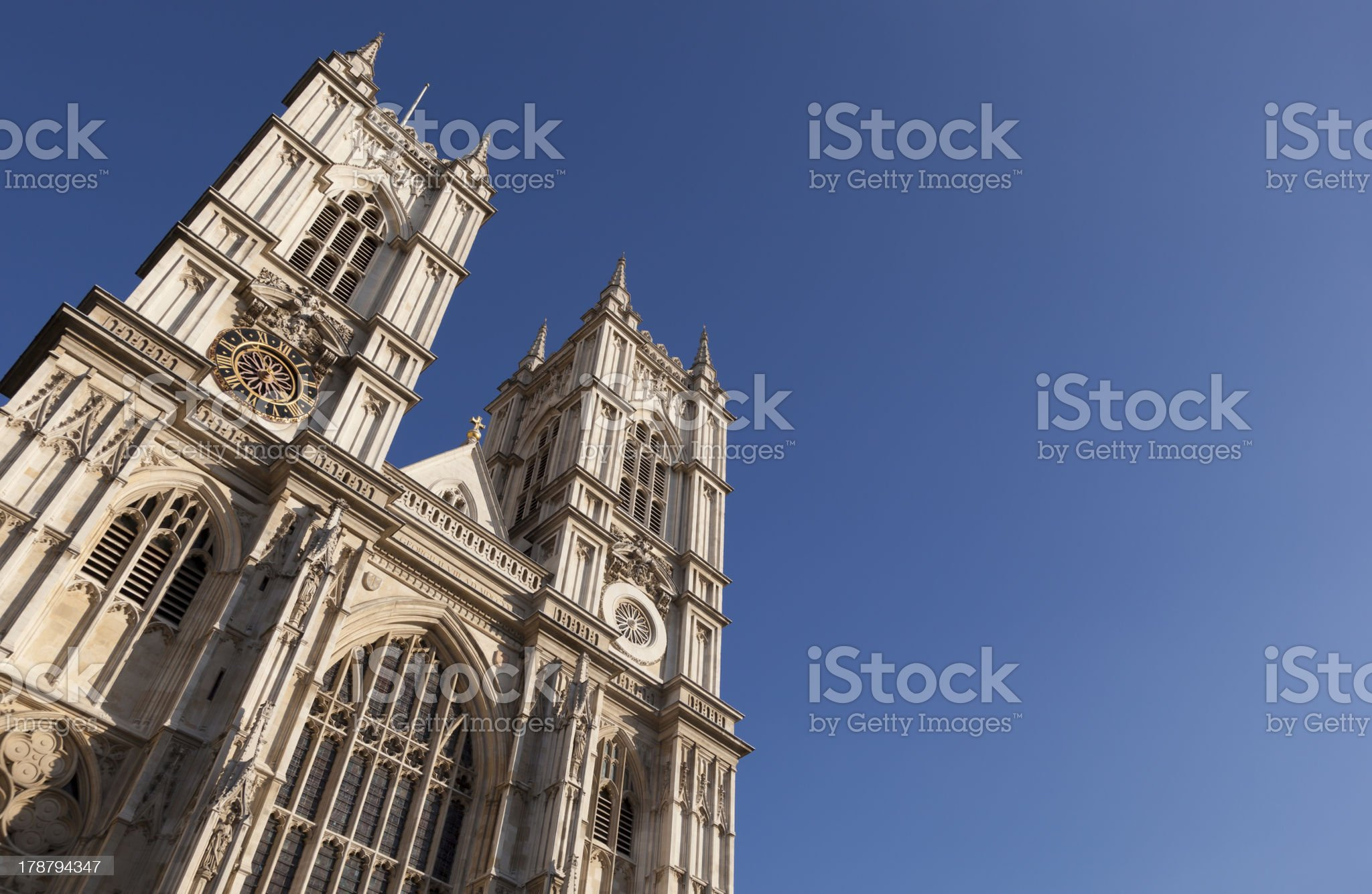 Westminster Abbey London England royalty-free stock photo