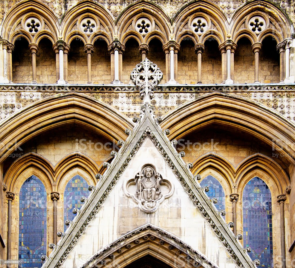 Westminster Abbey, London, England stock photo