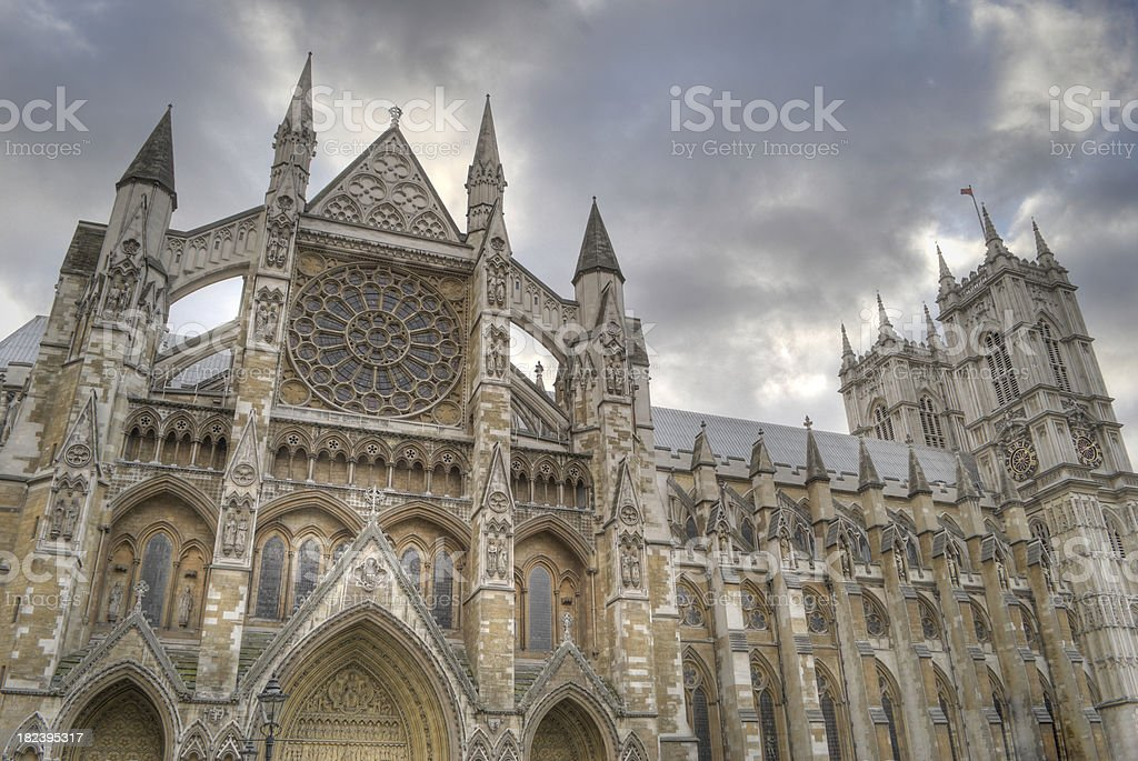 Westminster Abbey, London, HDR royalty-free stock photo