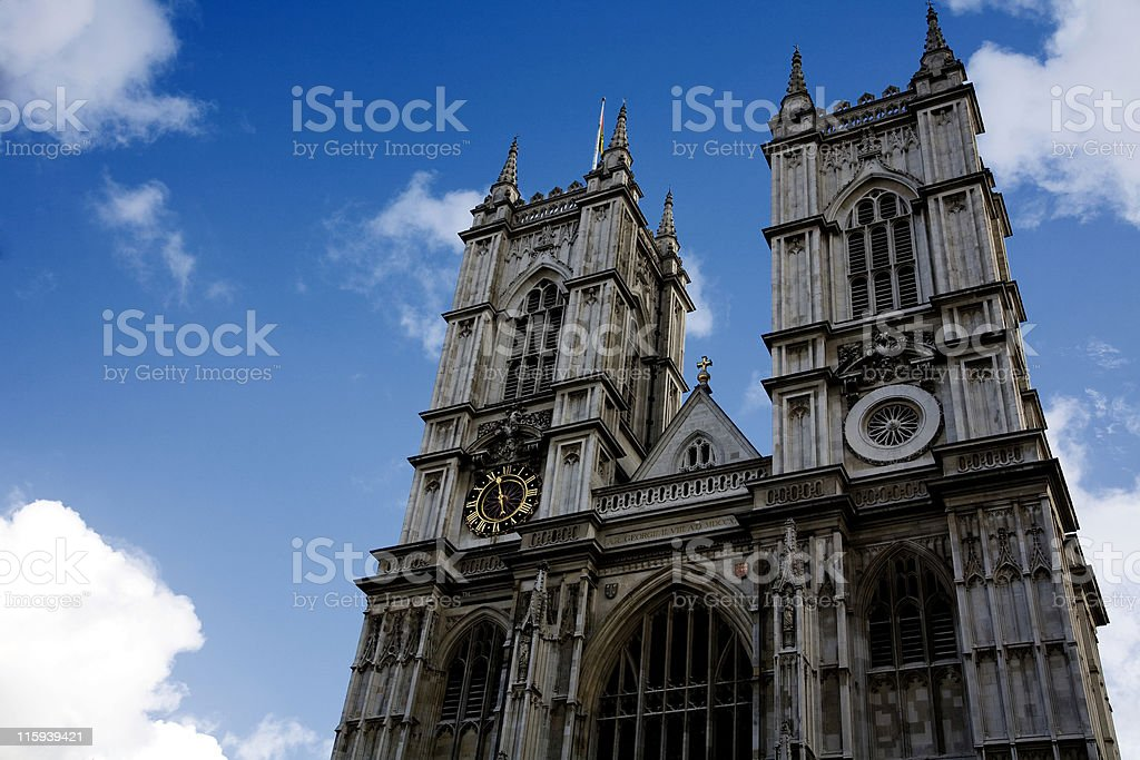 Westminster Abbey, London royalty-free stock photo