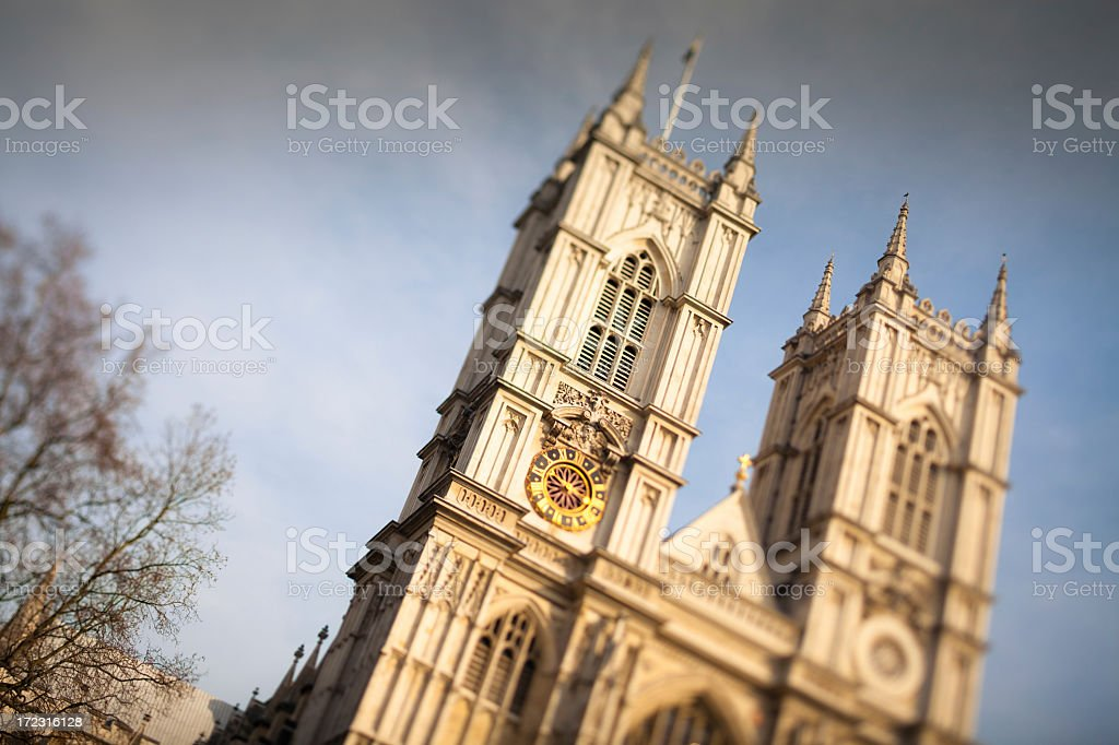Westminster Abbey, London (Tilt Shift) royalty-free stock photo