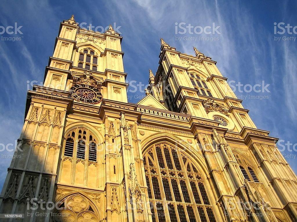 Westminster Abbey, London, UK royalty-free stock photo