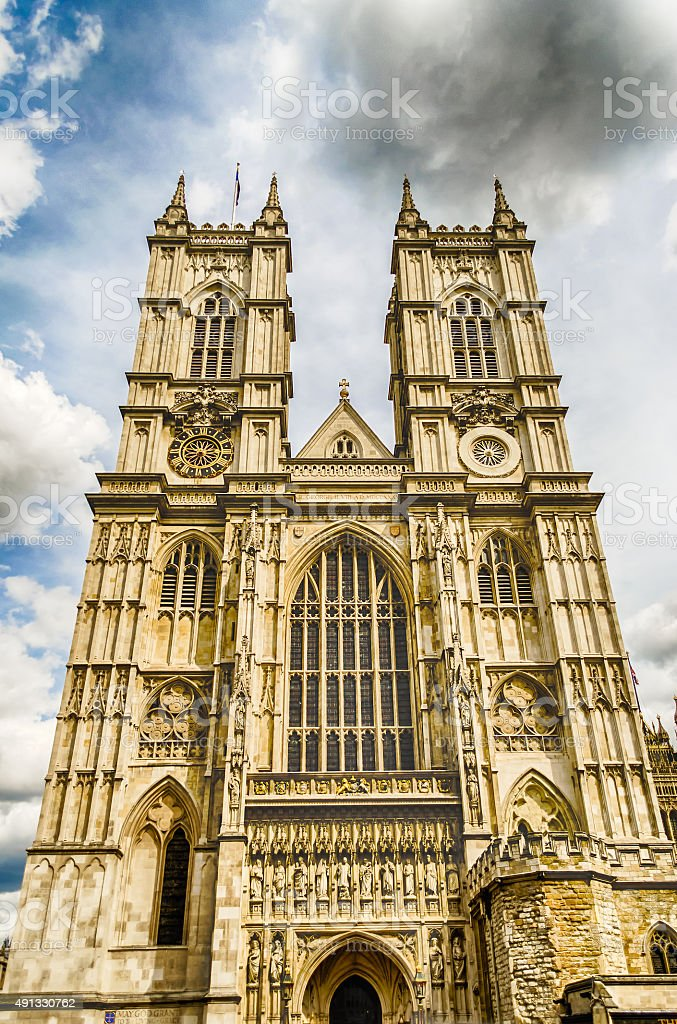 Westminster Abbey, London, UK stock photo