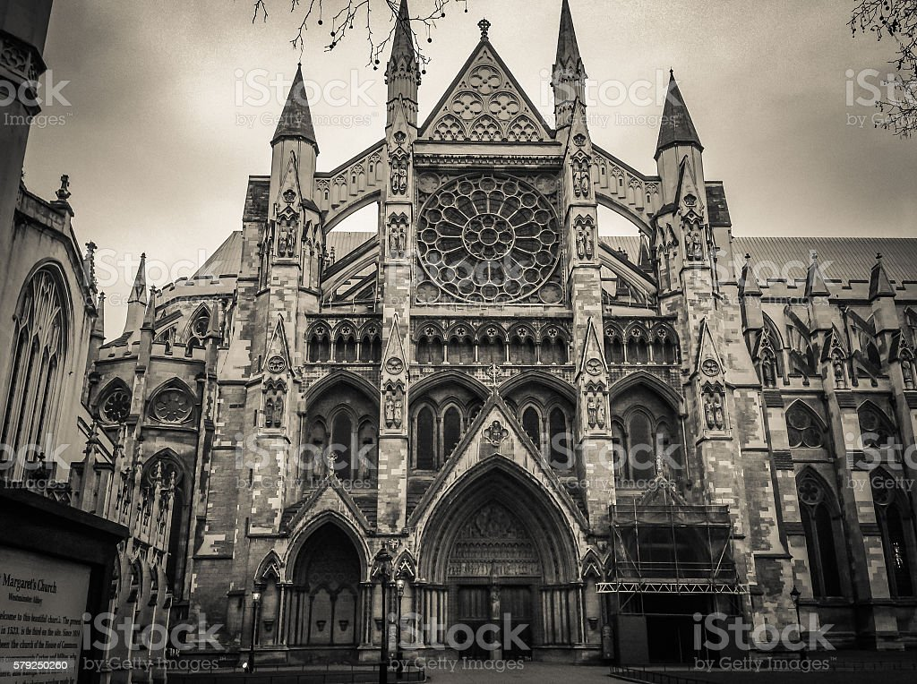 Westminster Abbey (The Collegiate Church of St Peter at Westminster) - stock photo