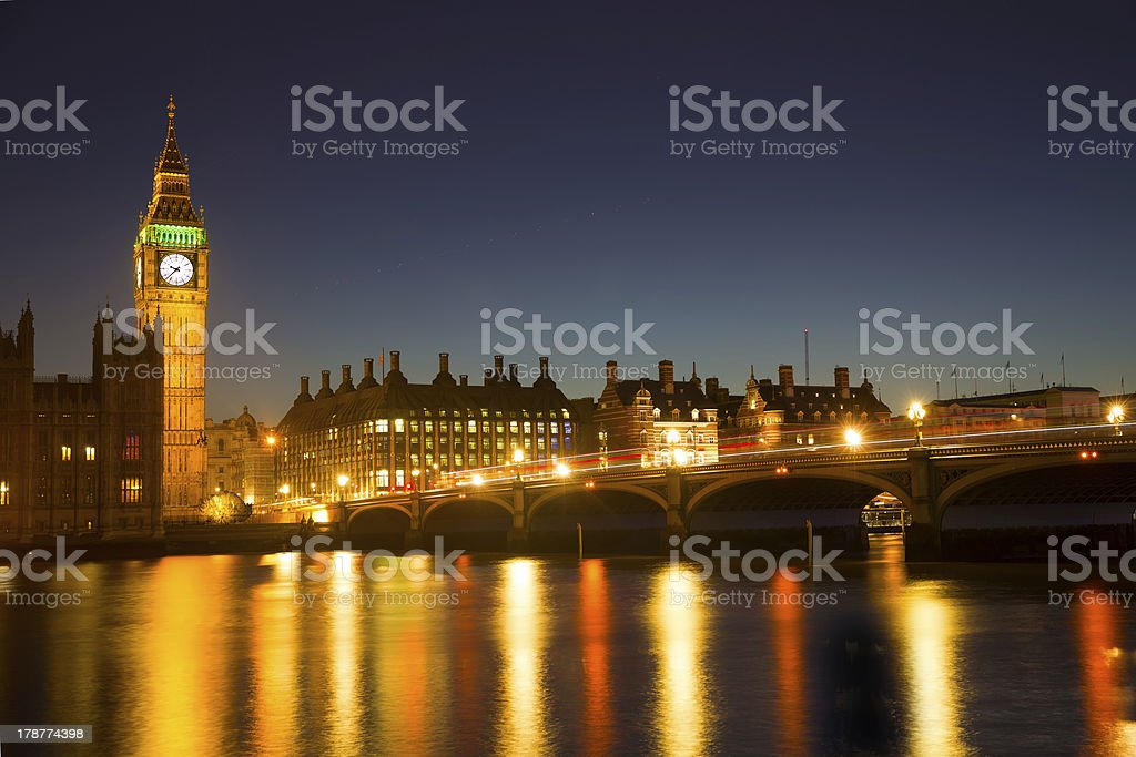 Westminster at night royalty-free stock photo