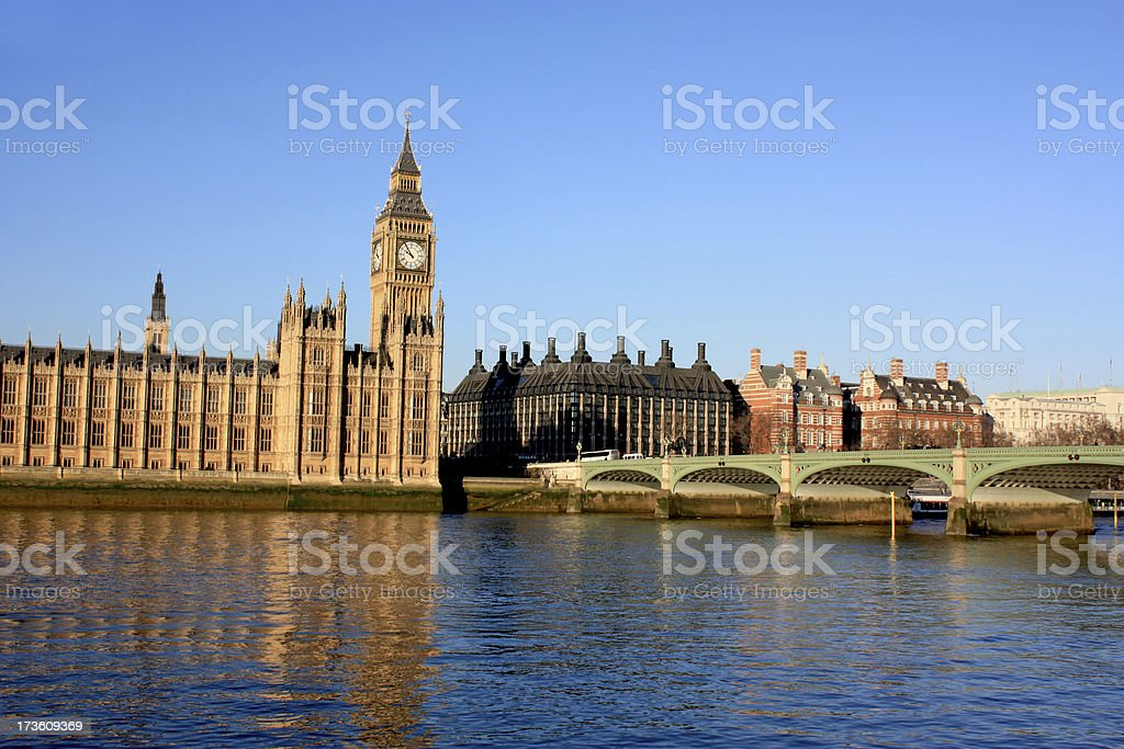 Westminster Bridge and Big Ben stock photo