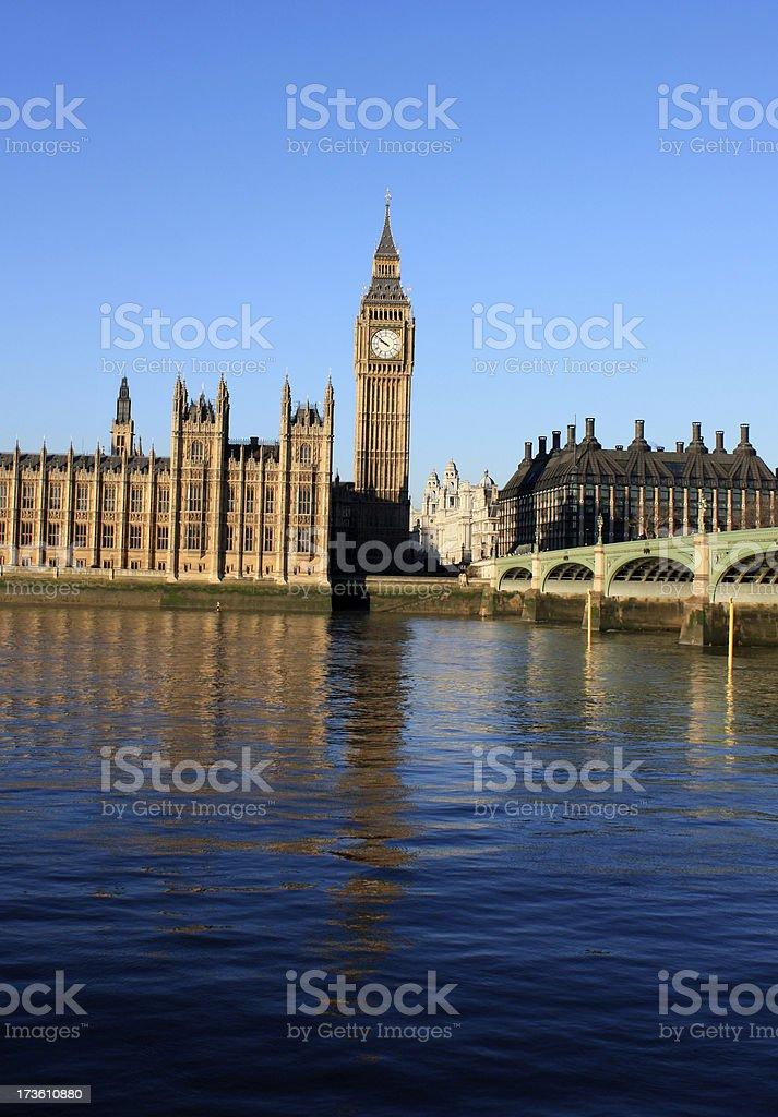 Westminster Bridge and Big Ben royalty-free stock photo