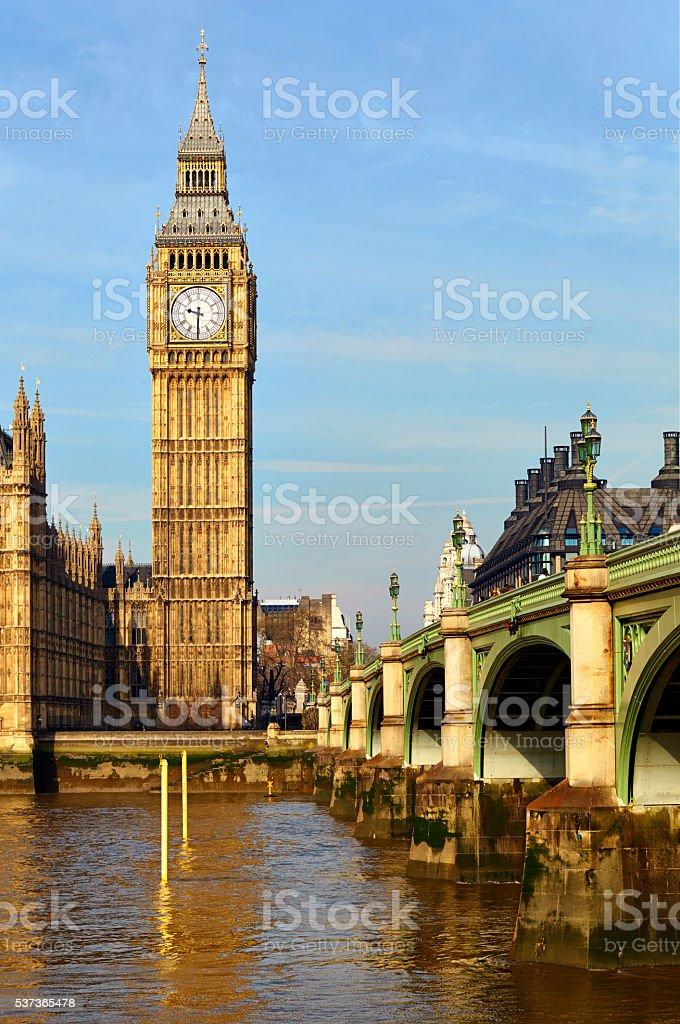 Westminster Bridge And Big Ben stock photo