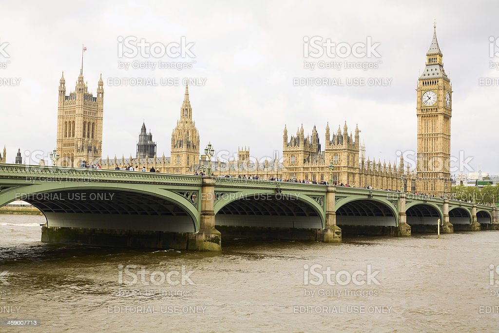 Westminster: bridge and Parliament stock photo