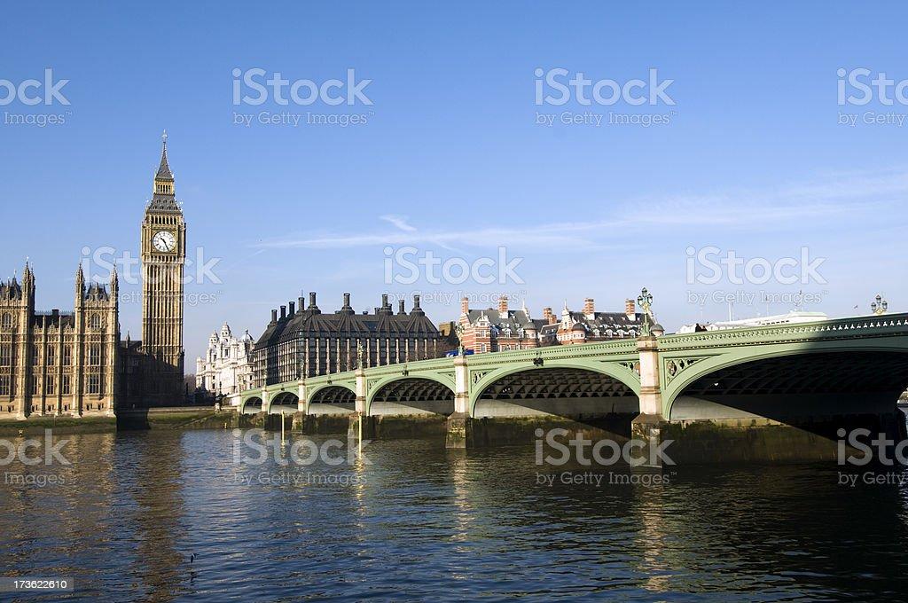 Westminster Bridge, London royalty-free stock photo