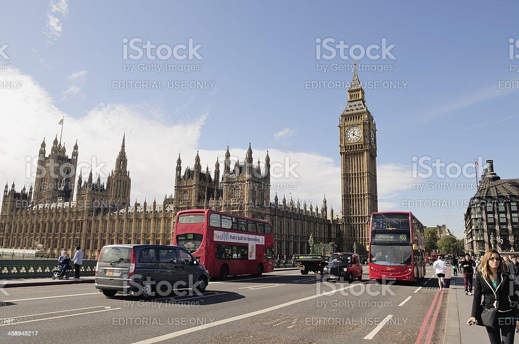 Westminster Bridge royalty-free stock photo