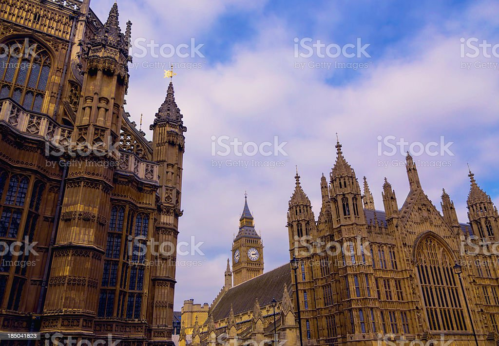 Westminster buildings and Big Ben stock photo