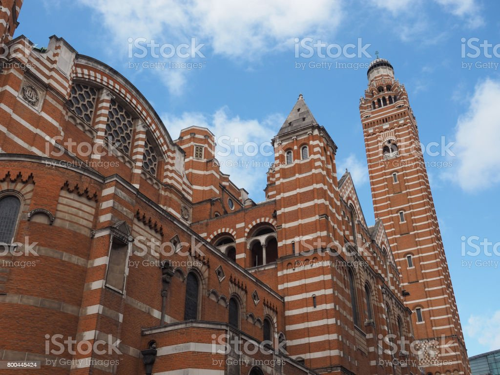 Westminster Cathedral in London stock photo