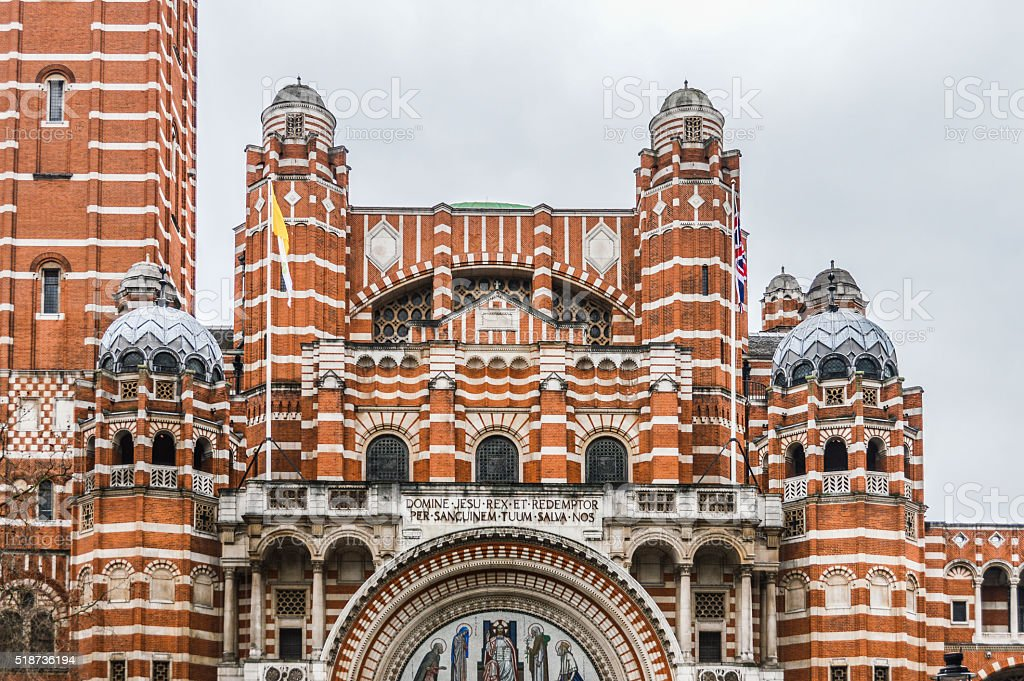 Westminster Cathedral -  London stock photo