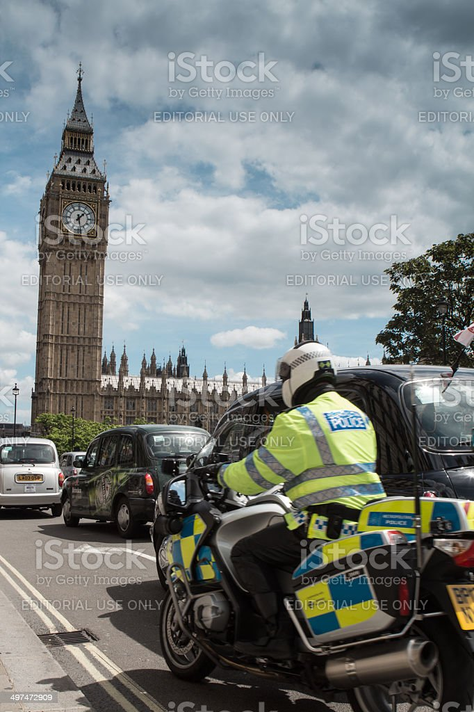 Westminster Cop stock photo