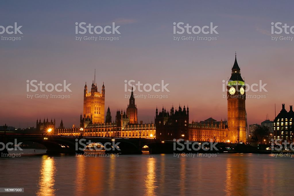 Westminster Dusk royalty-free stock photo