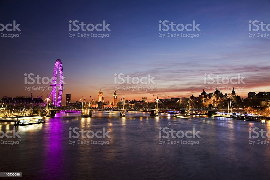 Westminster, London, at dusk royalty-free stock photo