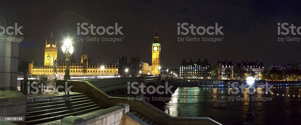 Westminster, London,  at Twilight royalty-free stock photo