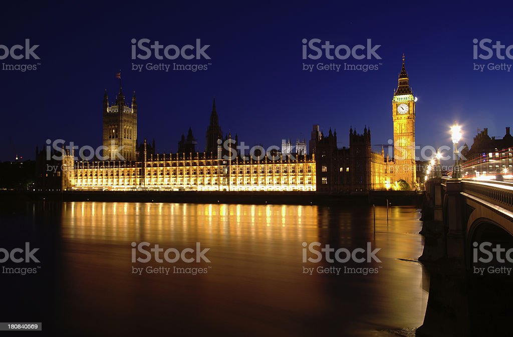 Westminster Palace At Night royalty-free stock photo