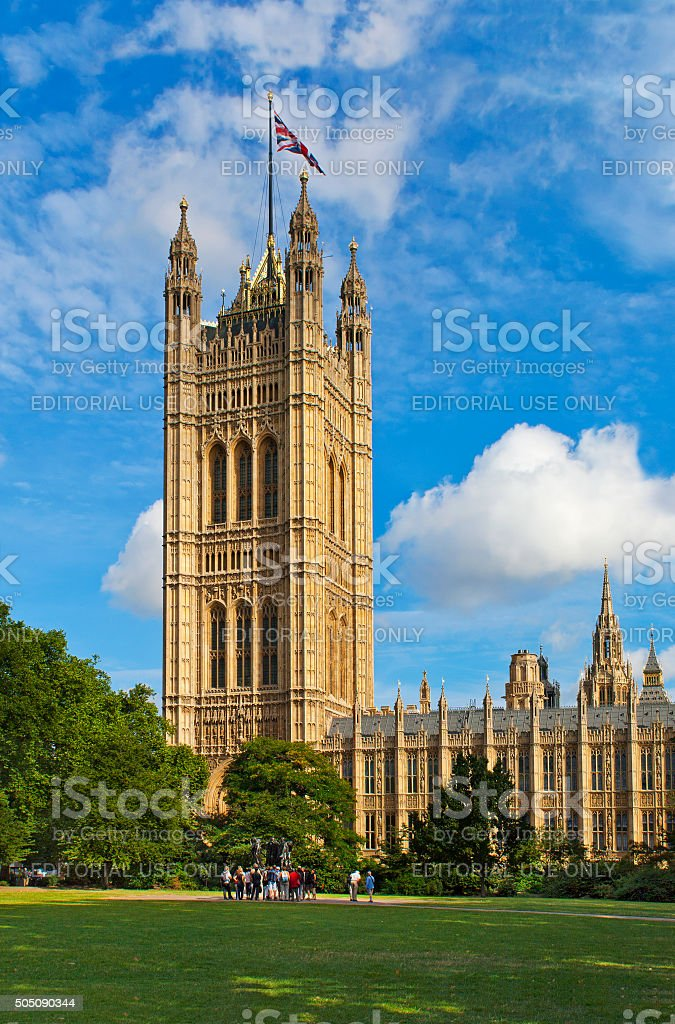 Westminster Palace in London, England stock photo