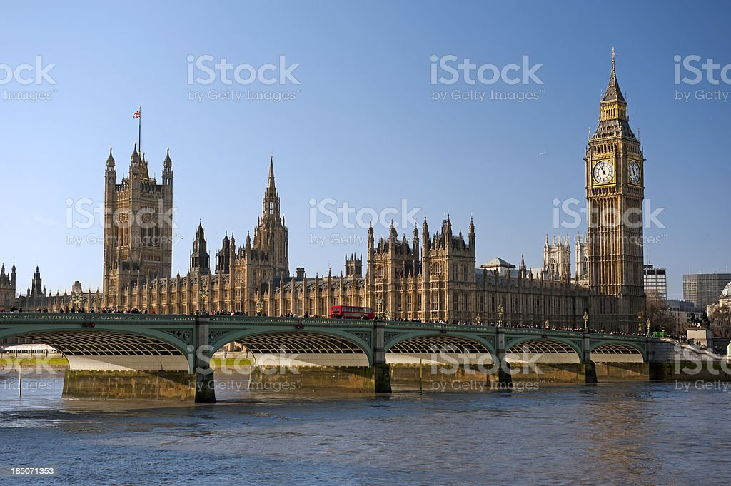 Westminster Palace, London royalty-free stock photo