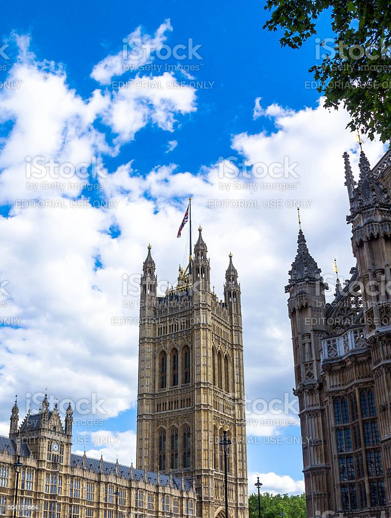 Westminster Palace. Victoria Tower , London stock photo