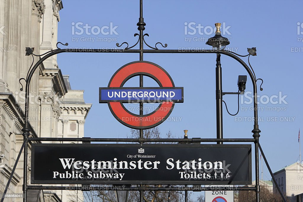 Westminster Station in London, England royalty-free stock photo