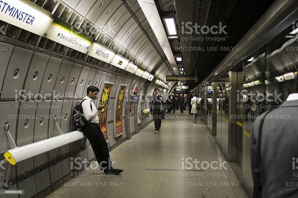 Westminster tube station. royalty-free stock photo