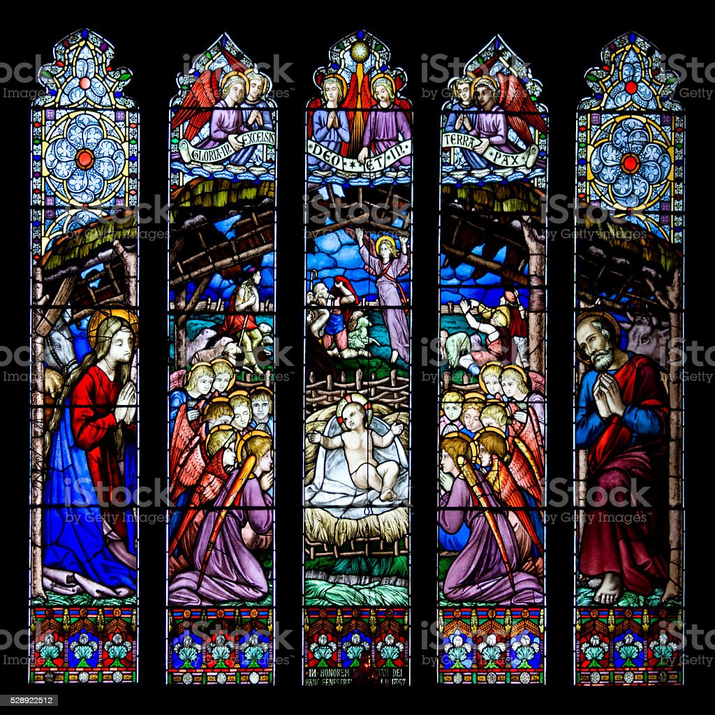Westminster Window - Chester Cathedral - UK stock photo