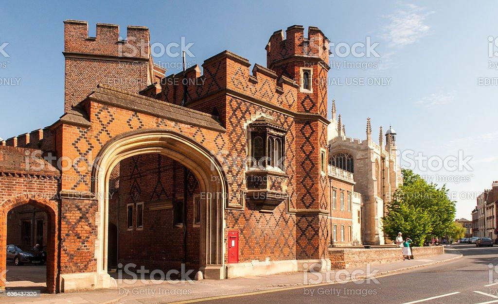 Weston's Yard Gatehouse, Eton College stock photo
