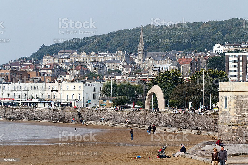 Spiaggia di Weston-Super-Mare foto stock royalty-free