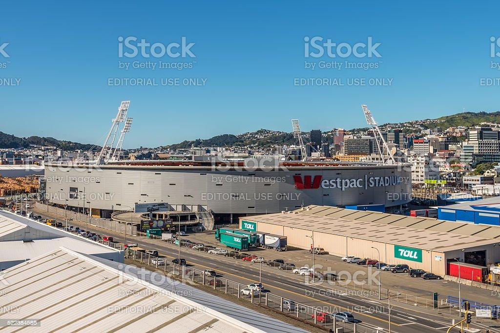 Westpac Stadium, Wellington stock photo