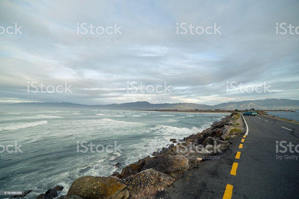 Westport breakwater stock photo