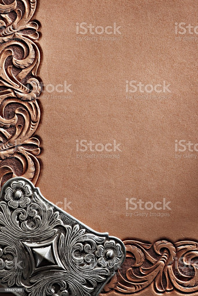 Westrn Style Frame royalty-free stock photo