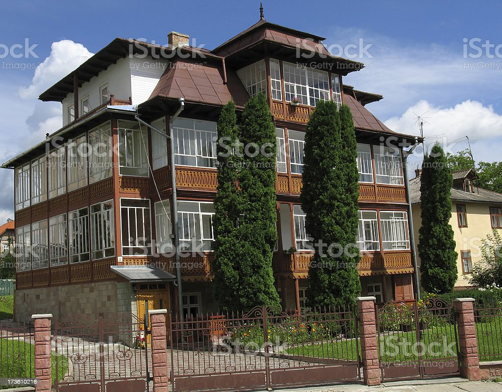West-Ukrainian Building stock photo