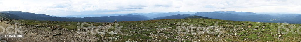 Westward Pano View from Mt. Eisenhower stock photo
