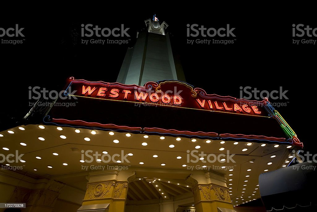 Westwood Village Theater stock photo