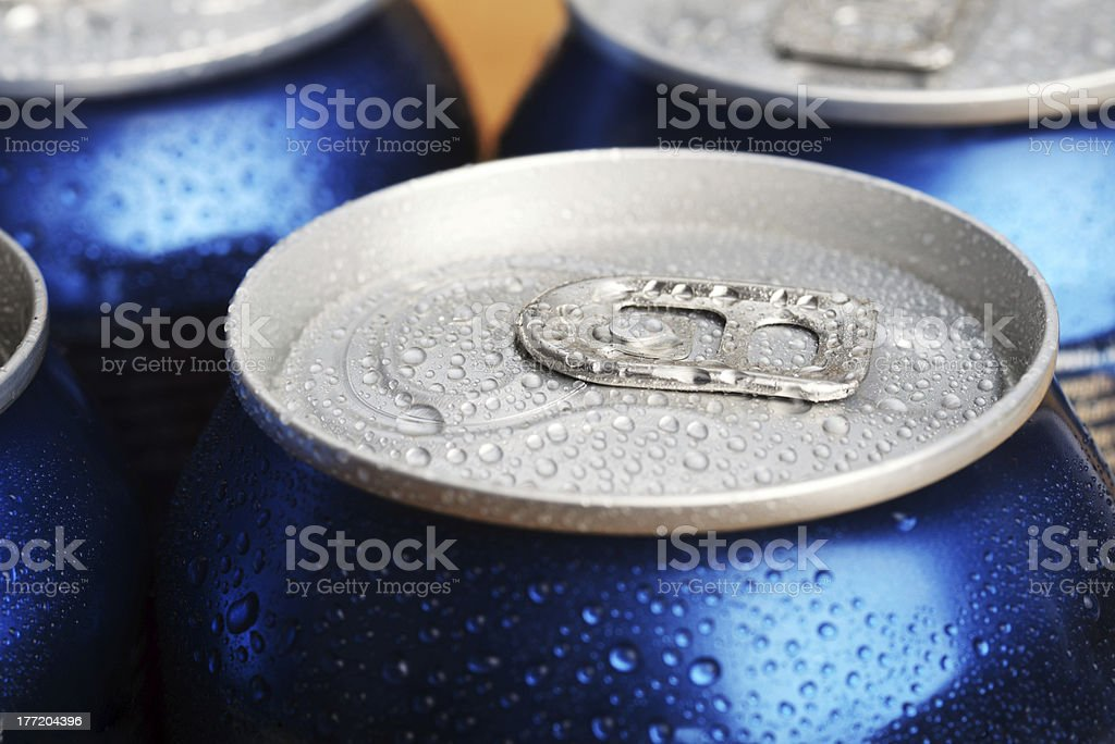 wet aluminium can royalty-free stock photo